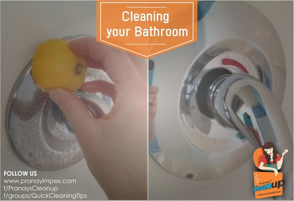 Cleaning your Bathroom You can use lemon oil to shine the tiles