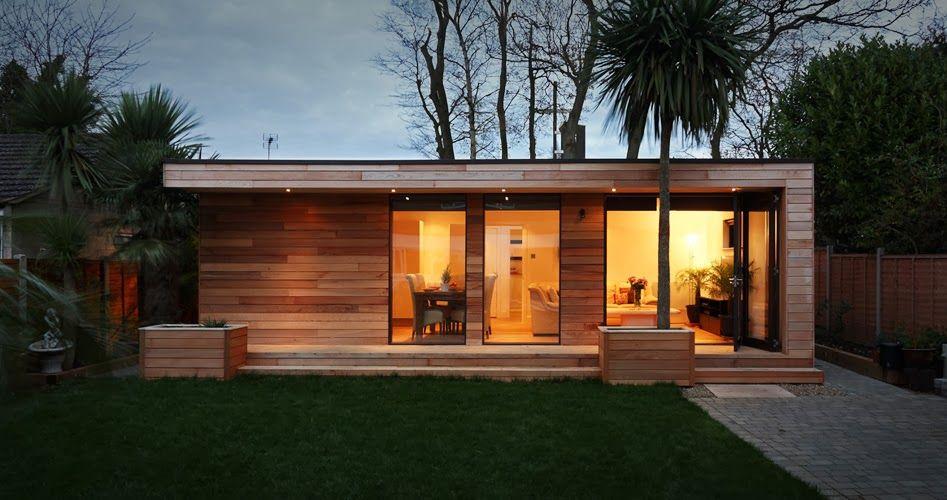 Casas minimalistas y modernas cabana compacta moderna caba as casas casas prefabricadas y - Casas minimalistas prefabricadas ...