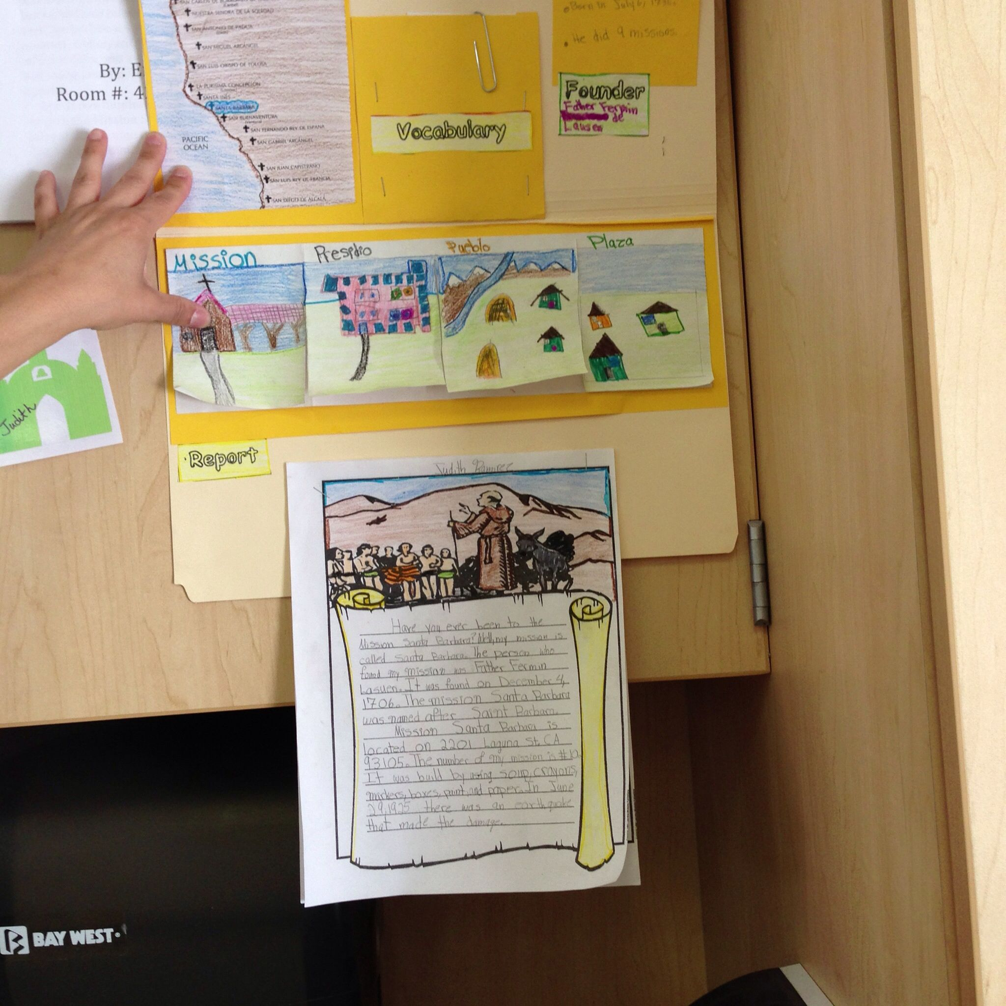 California Mission Lapbook Project With Images