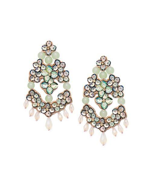 Tory Burch Opalescent Leather Chandelier Earring | Fashion ...