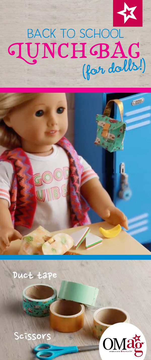 Craft This Diy Bag For Your American Girl Doll Using Just Duct Tape