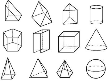 Clip Art Shapes 2d 3d Prisms Graphs Cylinders And More Ppt File Geometric Drawing 3d Geometric Shapes Geometric Shapes