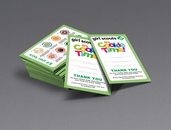 Girl scout troop wanted a business card that they could pass out to girl scout troop wanted a business card that they could pass out to potential customers while colourmoves Image collections