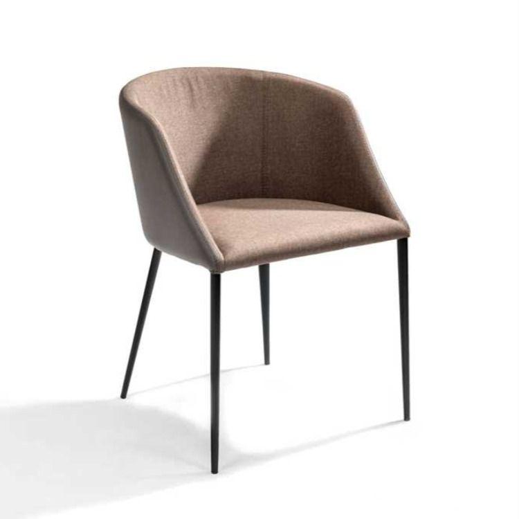 Gdc765 Chaise Avec Dossier Confortable Realisee En Simili Cuir Noir Et Tissu Anthracite Egalement Disponible En Brun Fonce In 2020