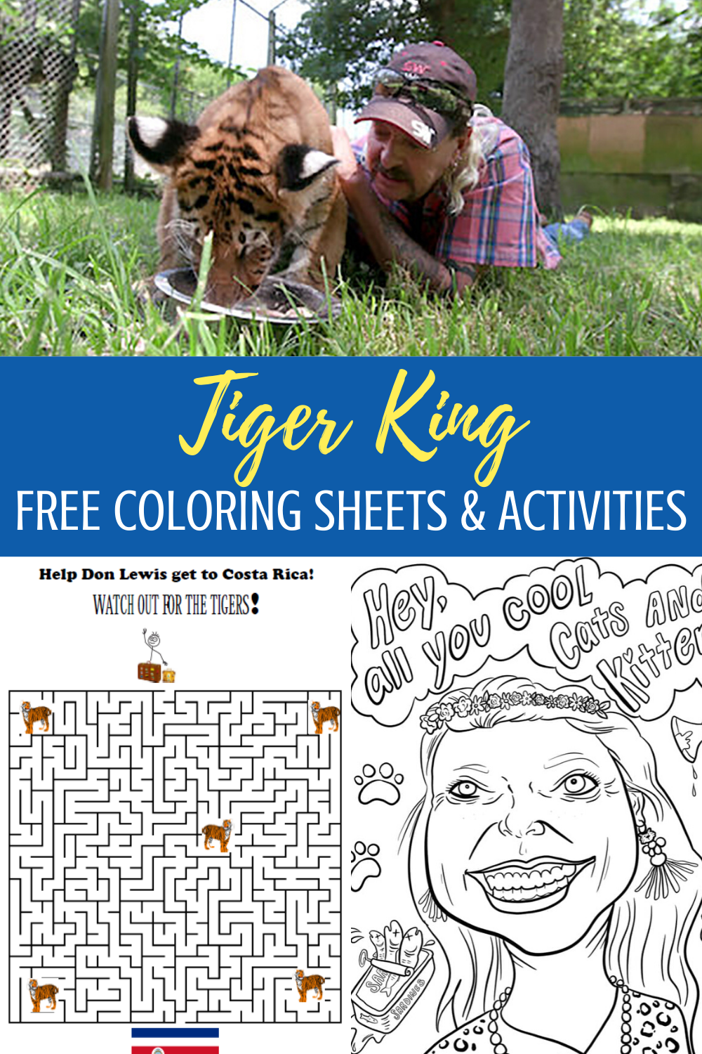 Free Netflix Tiger King Coloring Pages And Activities Nerd Humor Coloring Pages Disney Plus