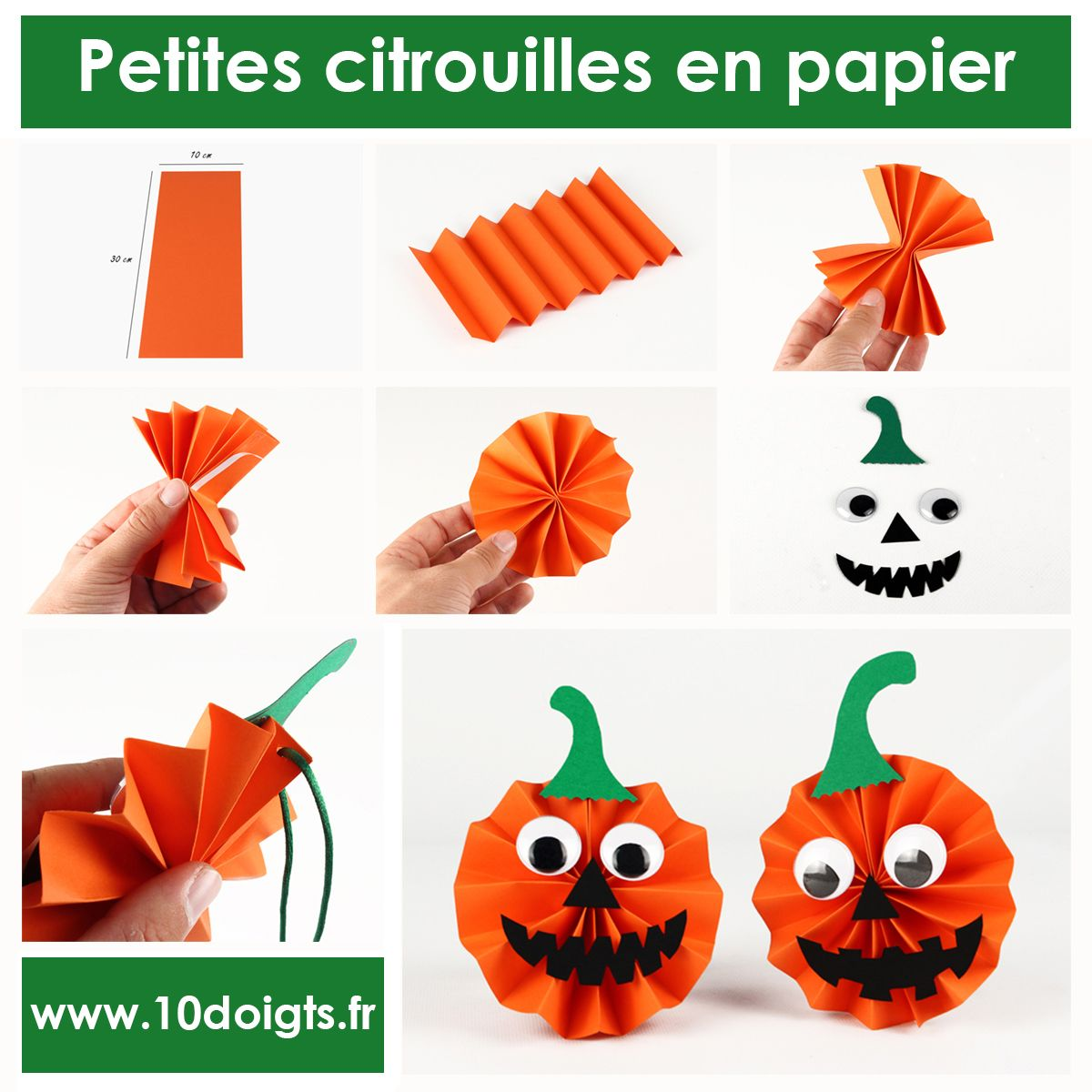 petites citrouilles en papier activit s enfantines bricolages d 39 halloween pinterest. Black Bedroom Furniture Sets. Home Design Ideas