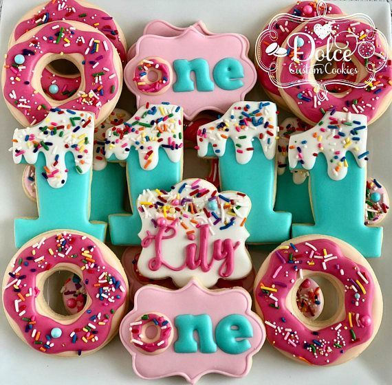 Donut Sprinkles One Is Sweet You Donut Want to Miss This First Birthday Cookies