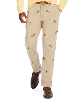 7a0335ea52e6 Polo Ralph Lauren Straight-Fit Embroidered Bedford Chino Pants ...