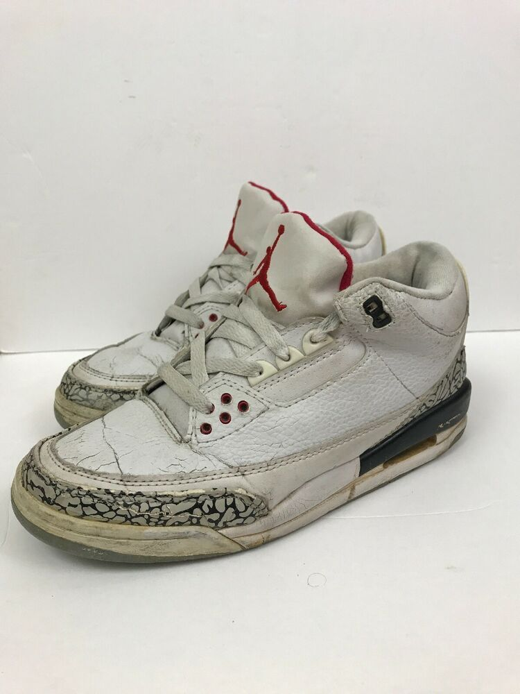 0cf73b332b4a 2003 Nike Air Jordan 3 Retro OG White Cement Size US Mens 8.5 136064 ...