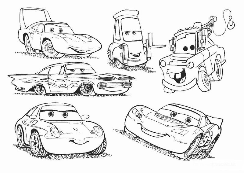 Lightning Mcqueen Racing Coloring Pages - Doraemon