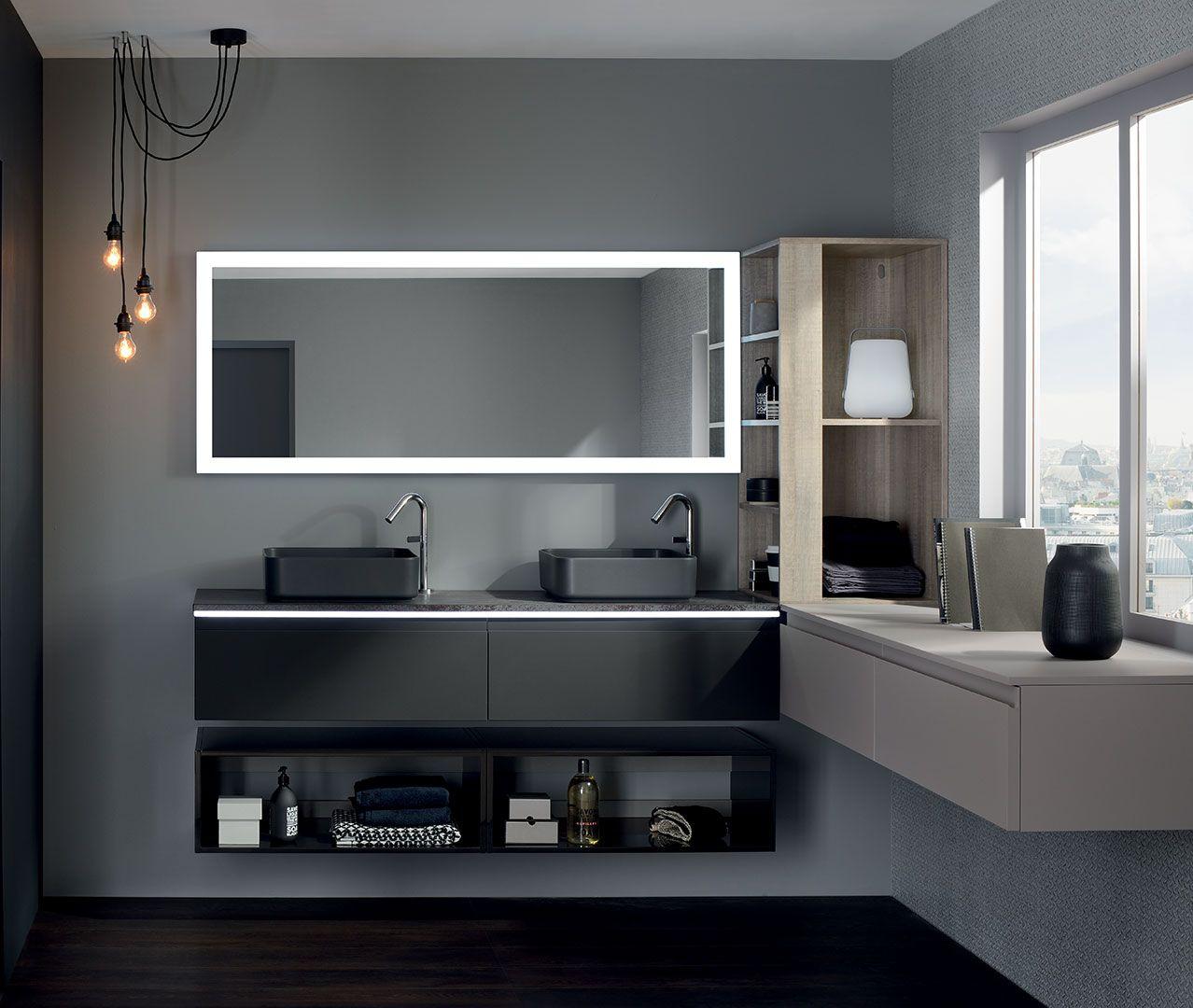 Meuble Salle De Bain Aquarine Newport ~ gamme halo meuble salle de bain design sanijura salle de bain
