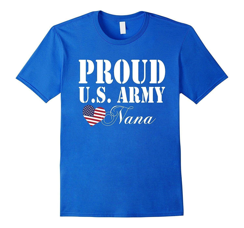 Pride Military Grandma - Proud U.S. Army Nana Heart T-shirt