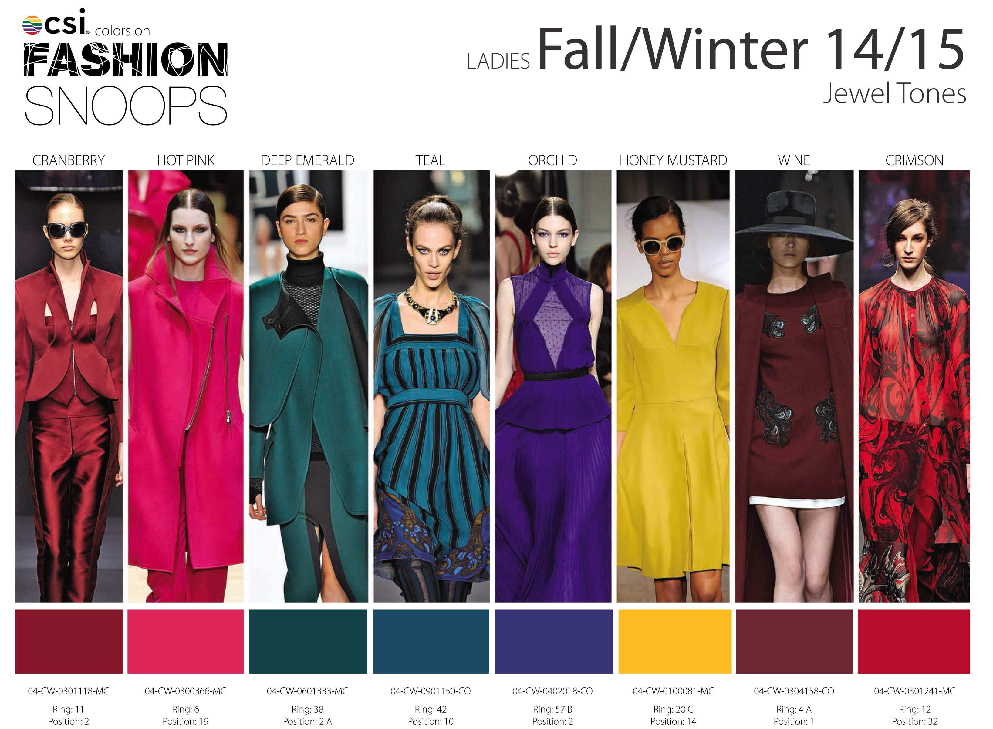 Color trends in 2015 - Fall Winter 2014 2015 Runway Color Trends