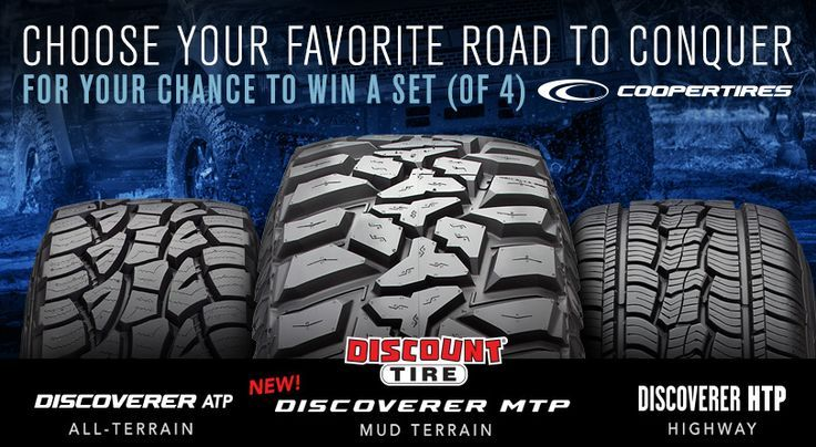 Check out Discount Tire's latest giveaway! A chance to win