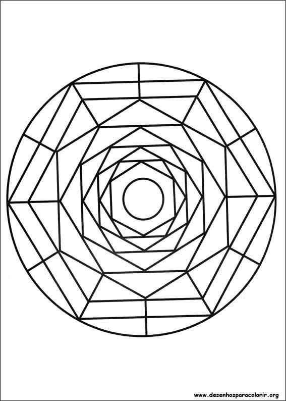 Desenho para imprimir ! | mosaicos | Pinterest | Simple mandala
