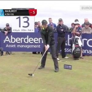 McIlroy smashes a 436-yard drive at Scottish Open: video