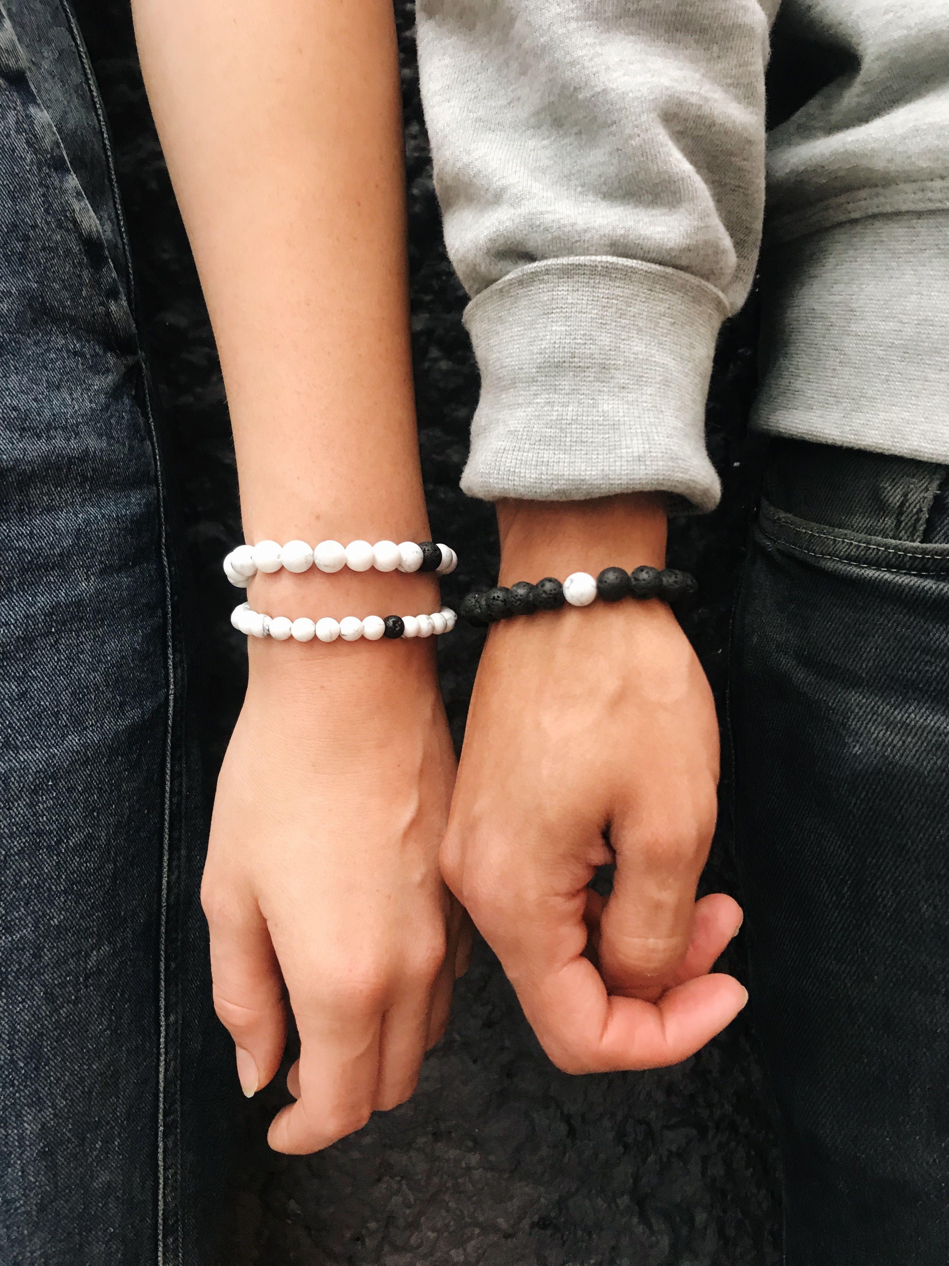 1facbdea02 Couples bracelets bead bracelet lava bead bracelet essential oils ...
