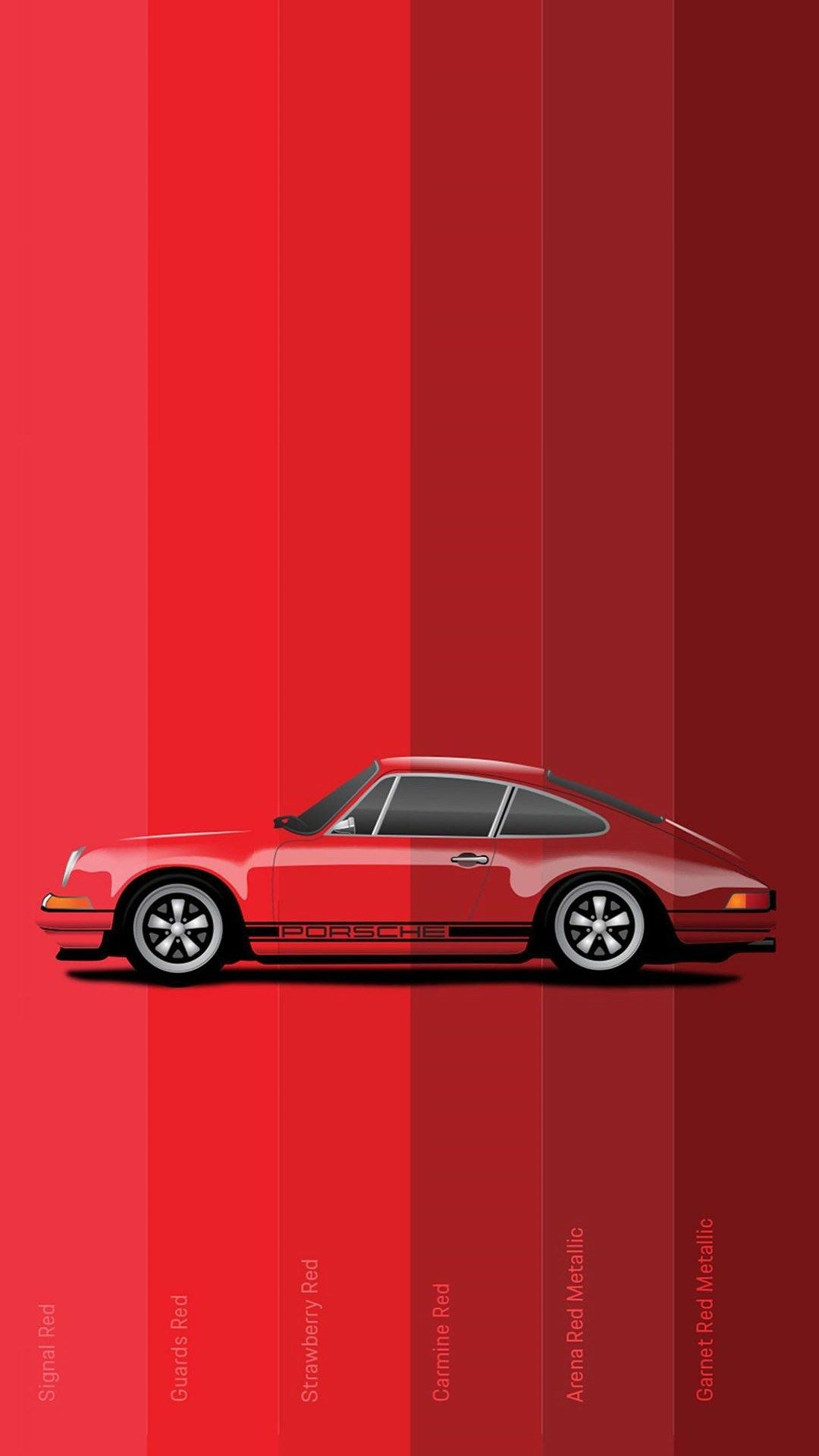 High Resolution Ultra Hd 4k Minimal Mobile Wallpapers Download Red Porsche Car Wallpapers Car Iphone Wallpaper