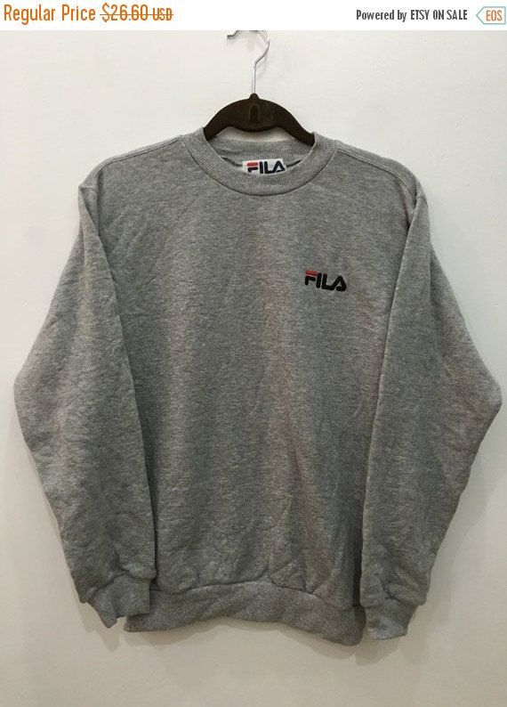 Vintage 90 S Fila Biella Italia Sweatshirt Sport Big Logo Trainer