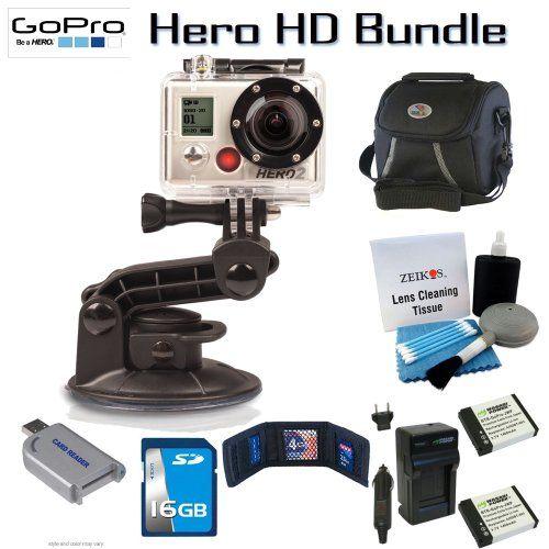 Gopro Chdmh002 Hd Motorsports Hero2 Camera Bundle Including 3 Pocket