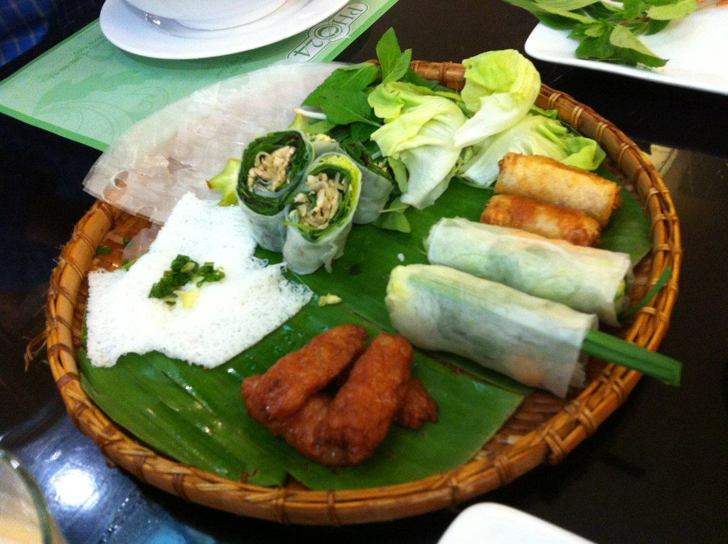 more yummy goodness from Pho24 .. spring rolls and tasty meats!  (ho chi minh, vietnam, southeast asia)