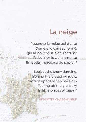 5 French Poems About Winter Phrases En Français Cours De