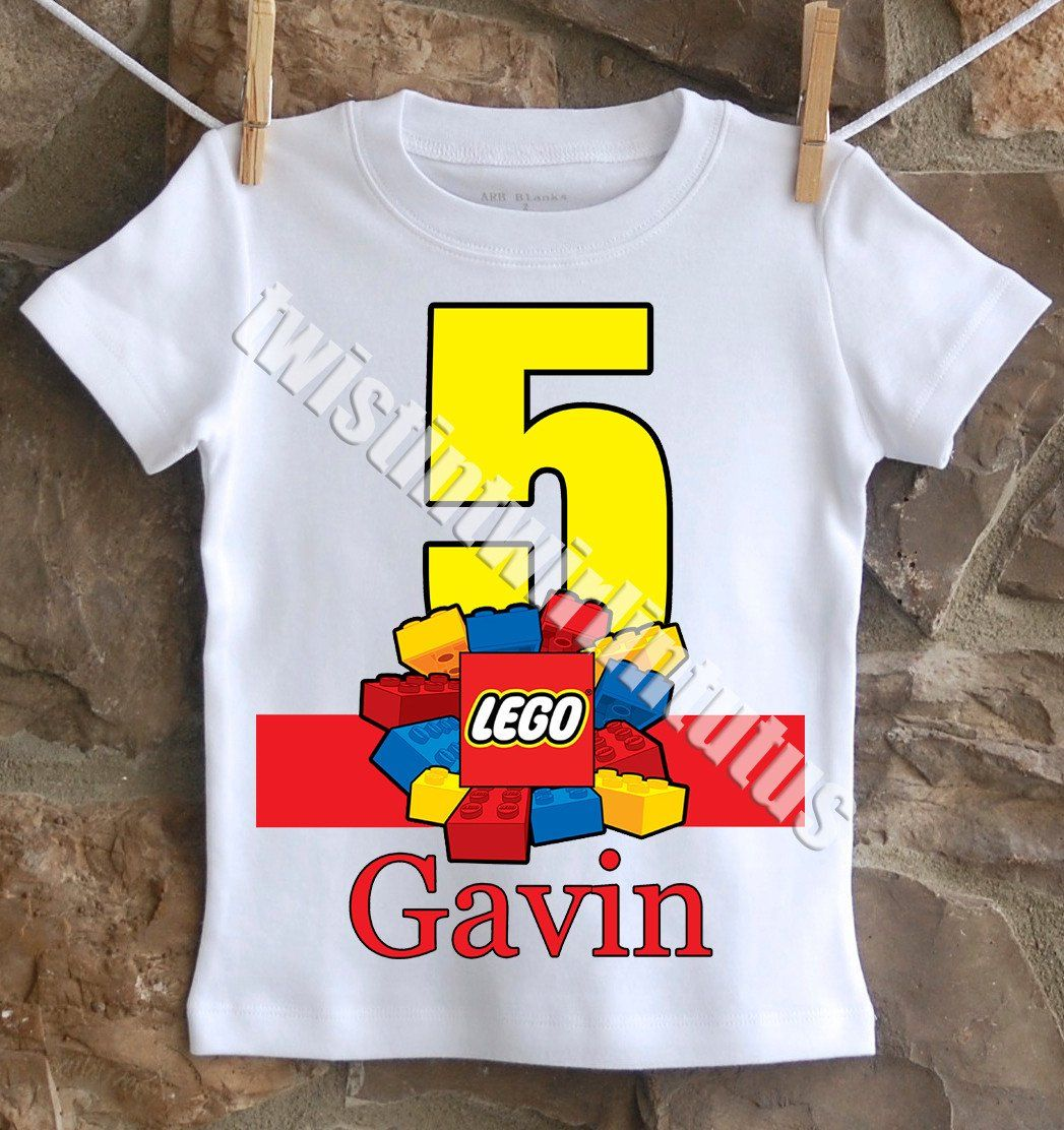Lego Birthday Shirt In 2019
