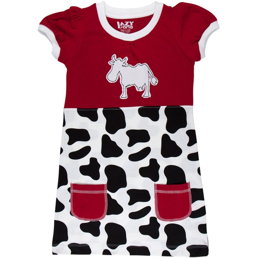 Cow & Spots Toddler Dress