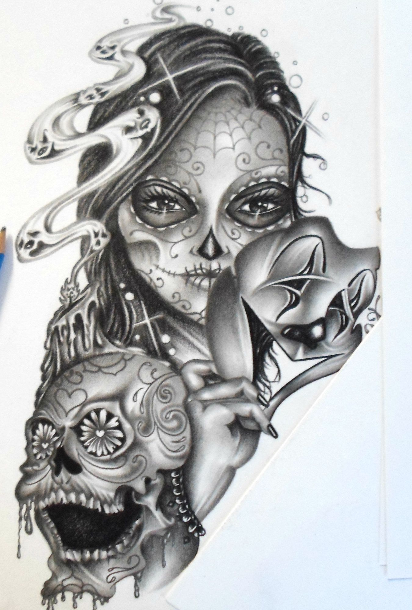 day of the dead art lowrider arte chicano art chicano art pinterest chicano art chicano. Black Bedroom Furniture Sets. Home Design Ideas