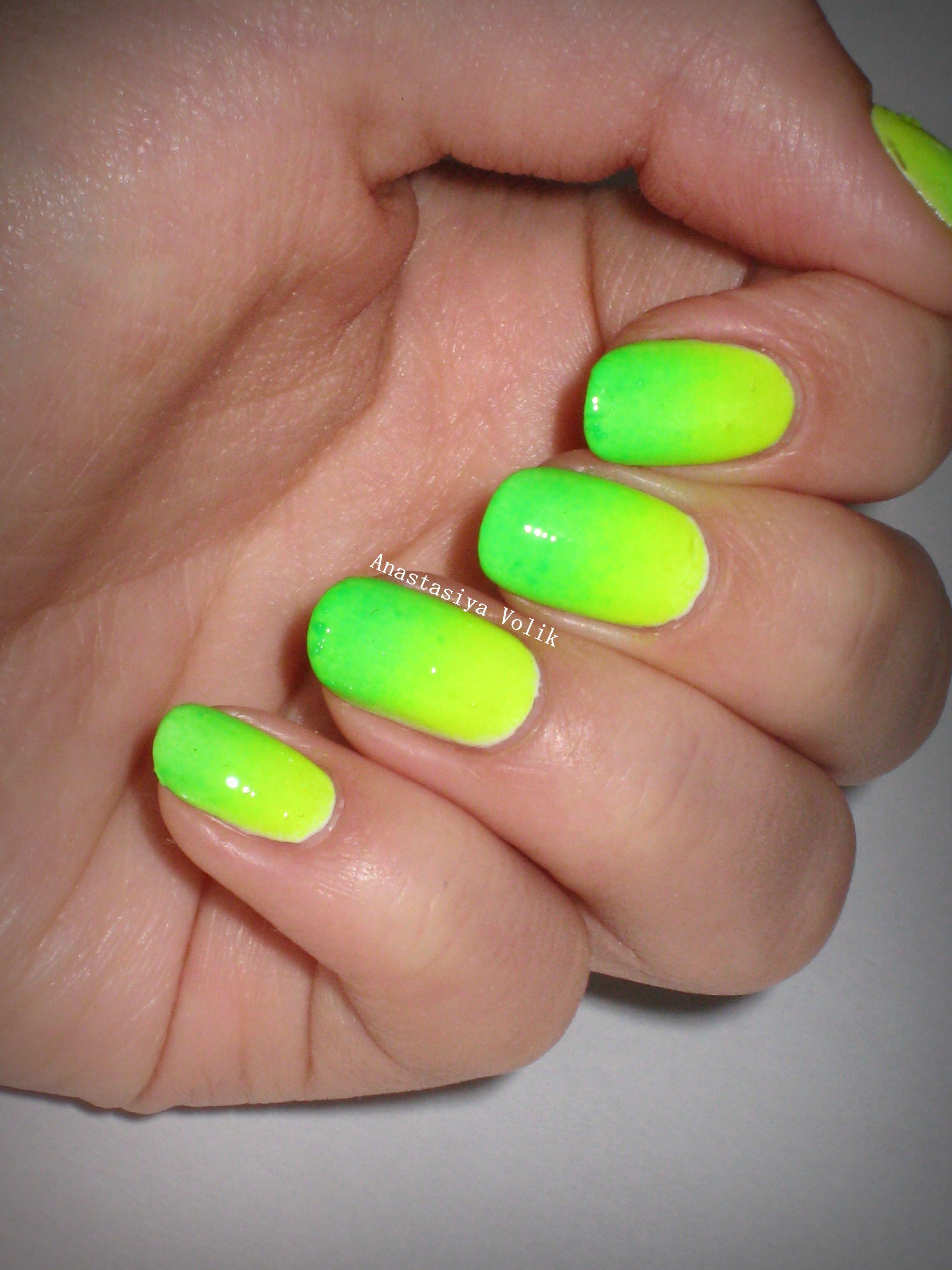 Кислотные цвета на ногтях фото