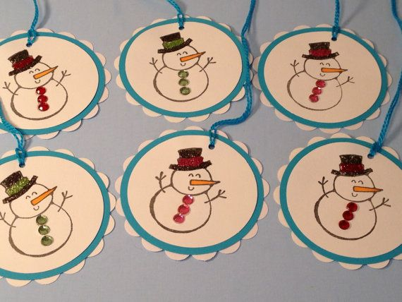 Snowmen Gift Tags Scrapbooking Gift Wrap Party by StuffDepot - SOLD