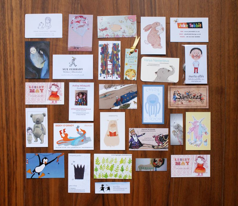 Selection of MA Illustration Students business cards ...