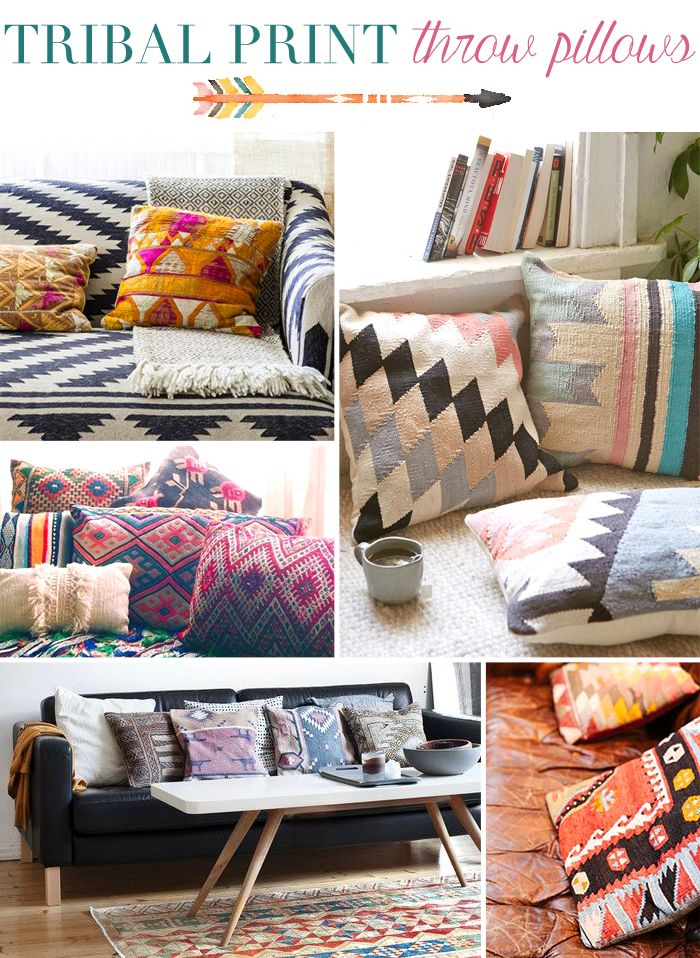tribal print throw pillows boho decor love it