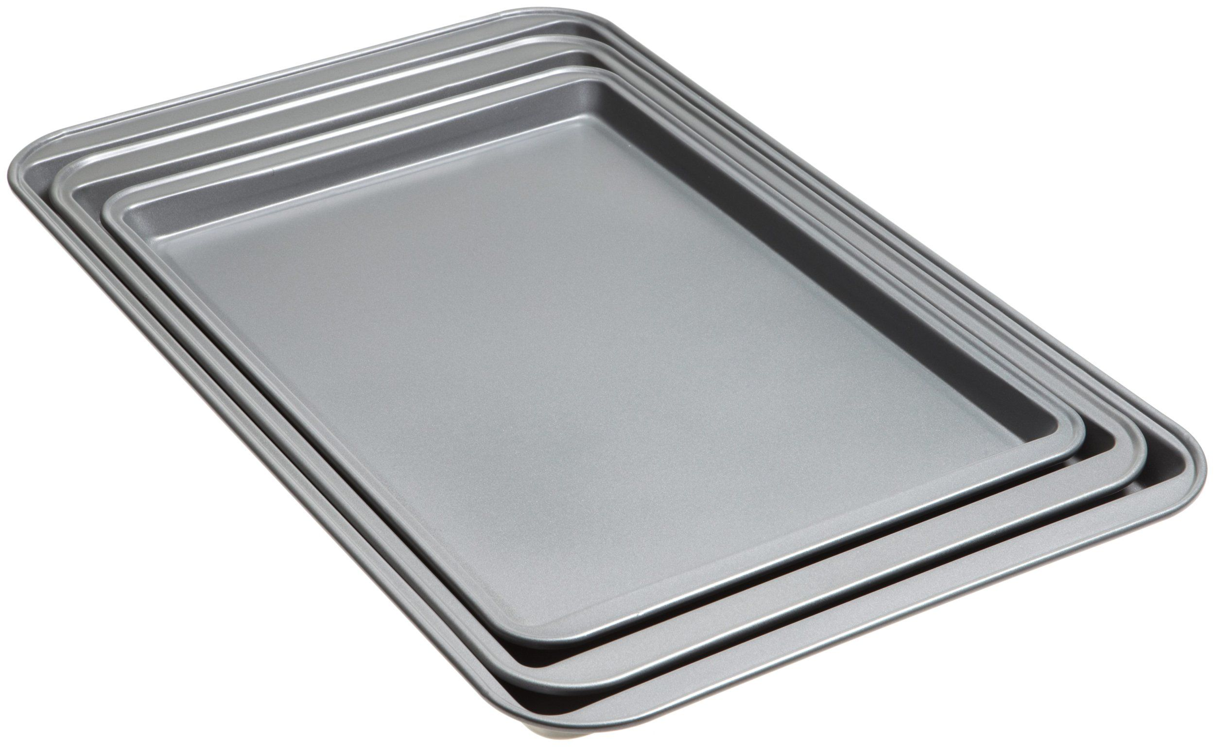 Good Cook Set Of 3 Non Stick Cookie Sheets And 2 Cooling Racks