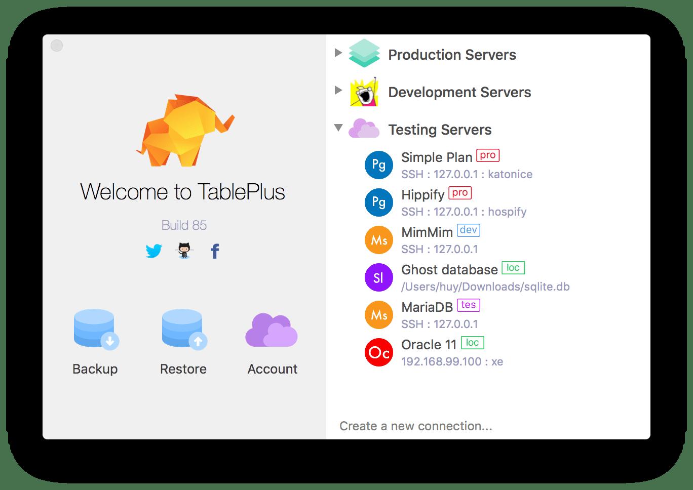 TablePlus - the best gui tool for mysql   Mysql gui tool