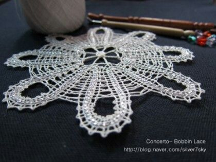 My first Russian bobbin lace, taught by Da-eun from England