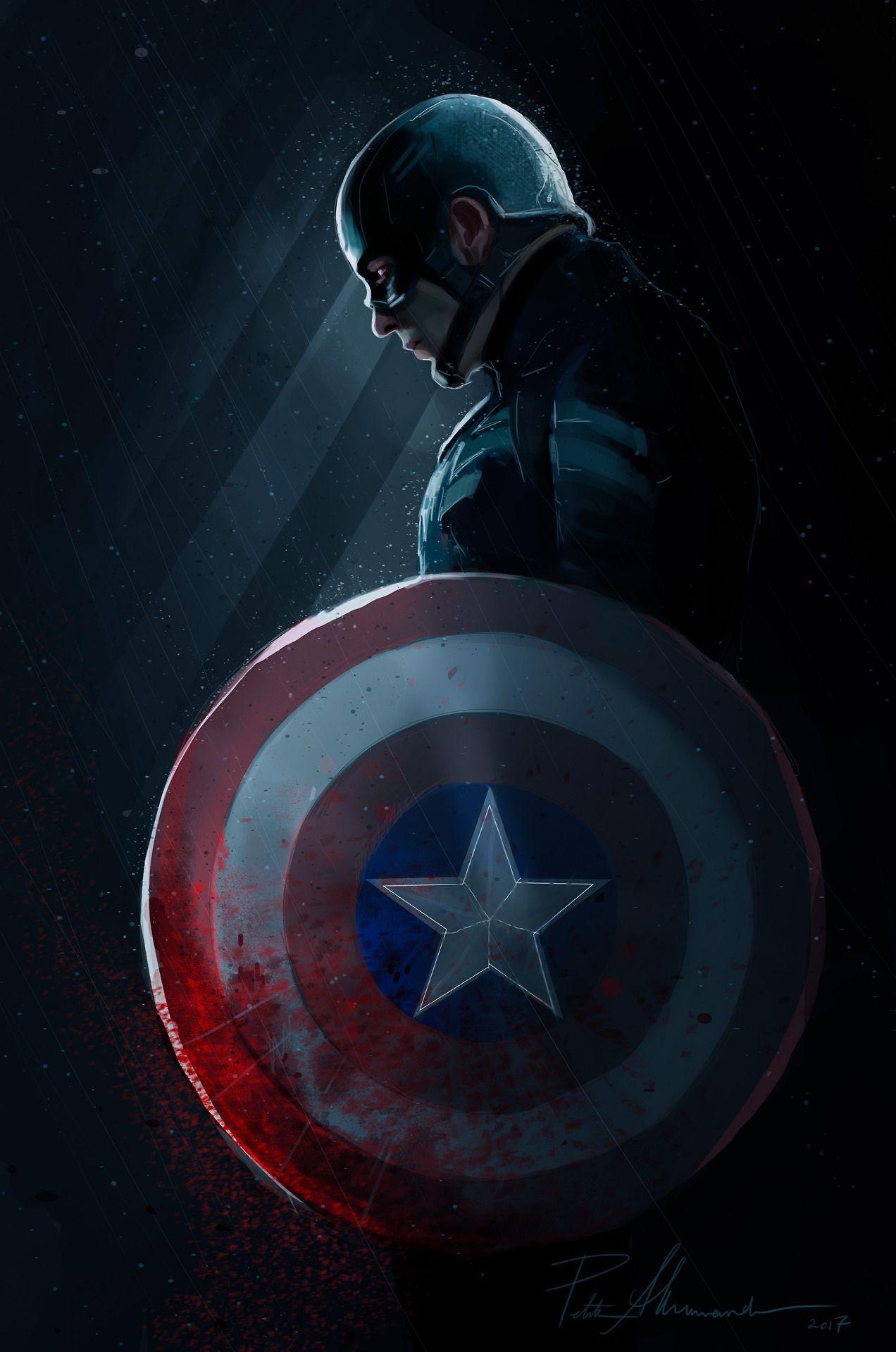 Обои shield, dark, america, captain, artwork. Фильмы foto 15