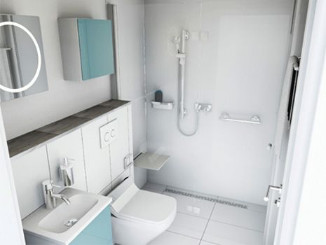 Hervorragend Kleines Bad | Viel Stauraum | Badplanung