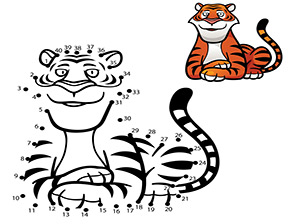 Malen Nach Zahlen Zahlenbild Tiger Malen Nach Zahlen Kostenlose Ausmalbilder Tiger Malen
