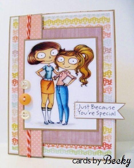 KraftinKimmie Kraftin' Kimmie Kraftin Stamp Moonlight Whispers Best Friends Card