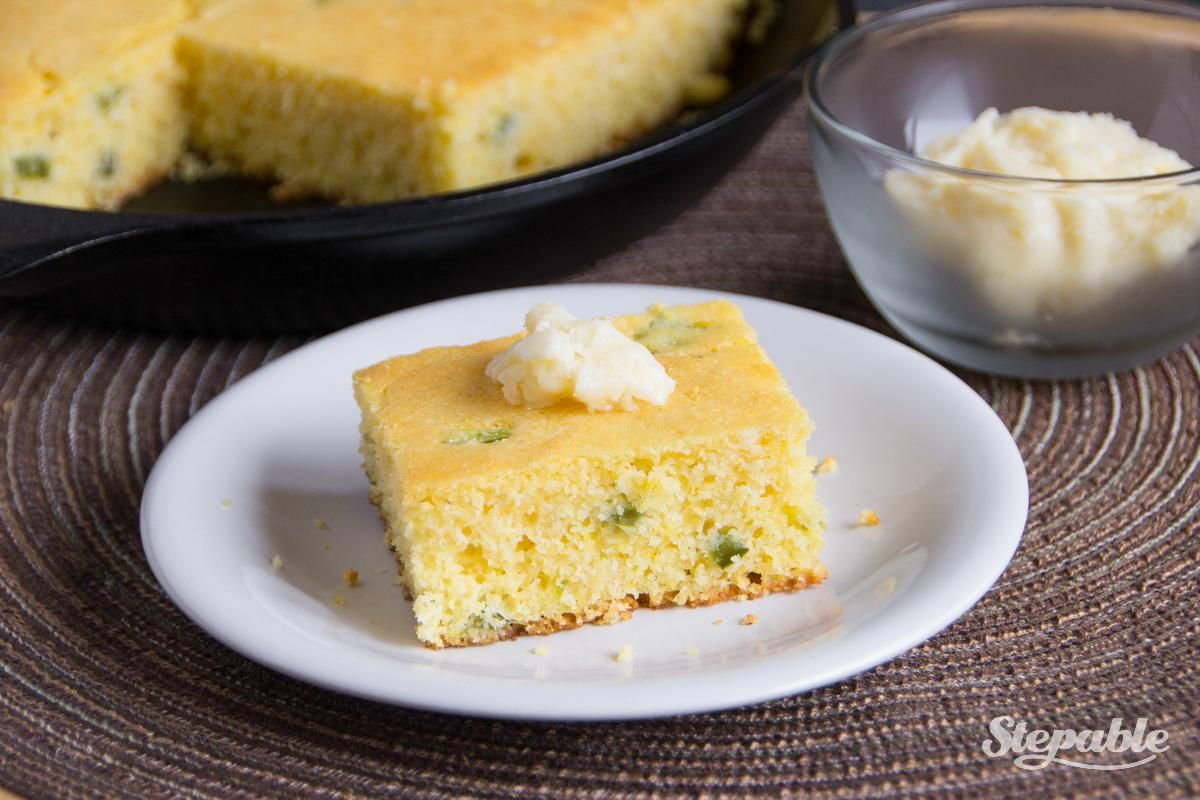 Jalapeño Cornbread with Homemade Honey Butter