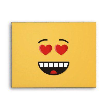 Smiling Face With Heart Shaped Eyes Envelope Zazzle Com Smile