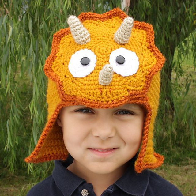 Worsted Weight Triceratops Hat pattern by Micah York | Crochet ...