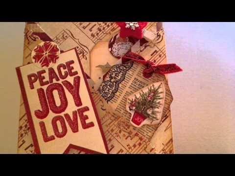 criss cross Christmas Card