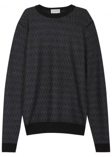 Wickson charcoal mélange wool jumper - Knitwear - All Clothing - Men