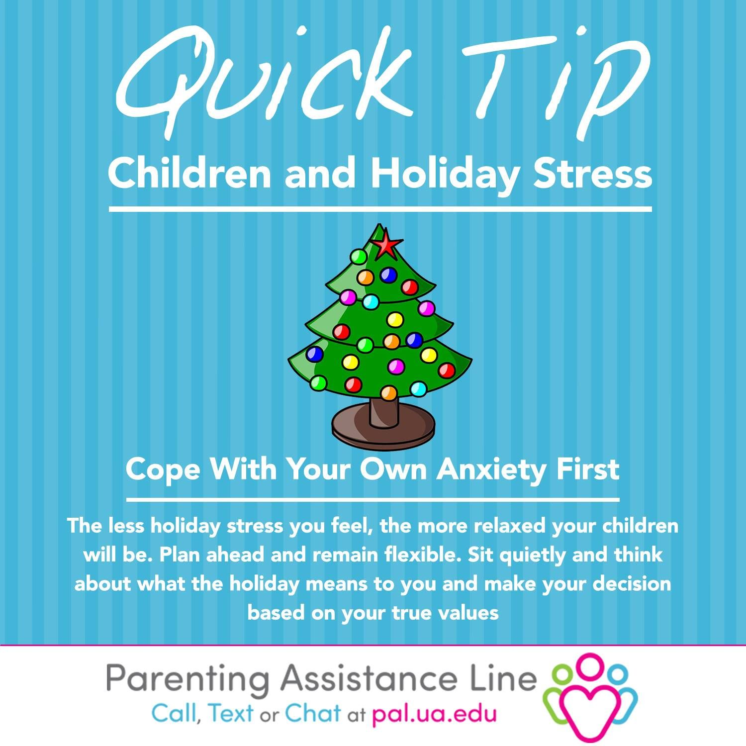 Plan ahead for the holiday season, and remind yourself