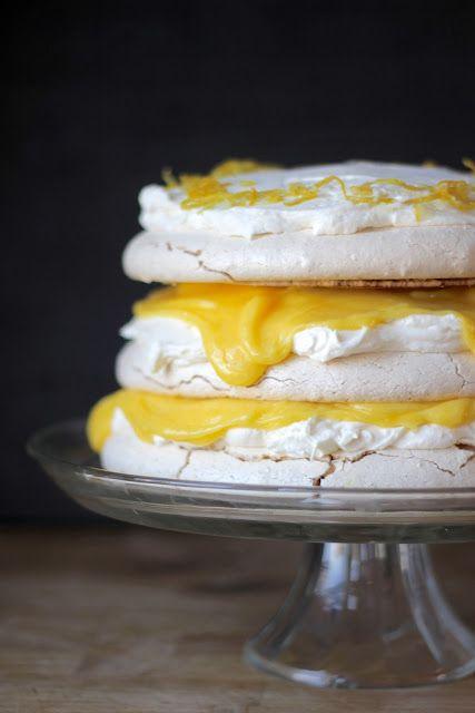 레몬 커드&마스카포네 파블로바