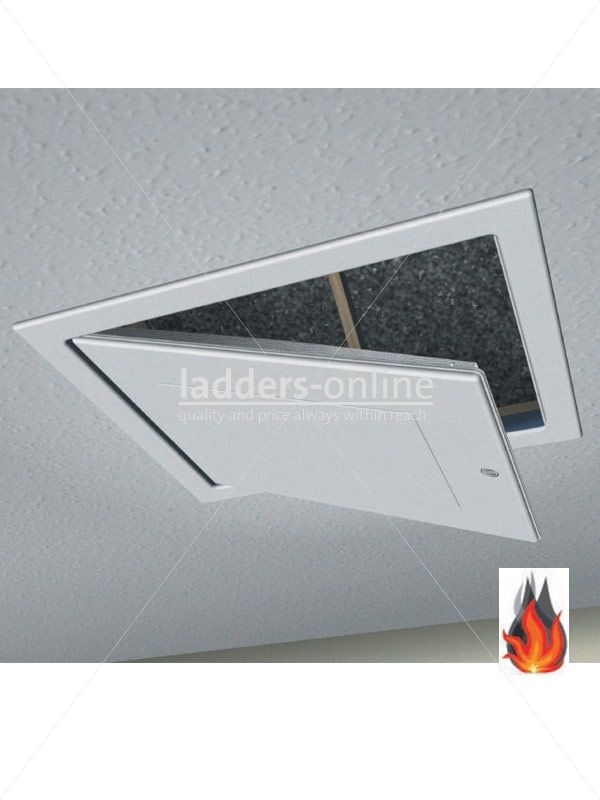 97 95 Fire Resistant Drop Down Lift Out Loft Hatch 562x562mm For Additional Safety The Ladders Online Loft Hatch Fire Rated Doors Loft Hatch Door Hatch Door