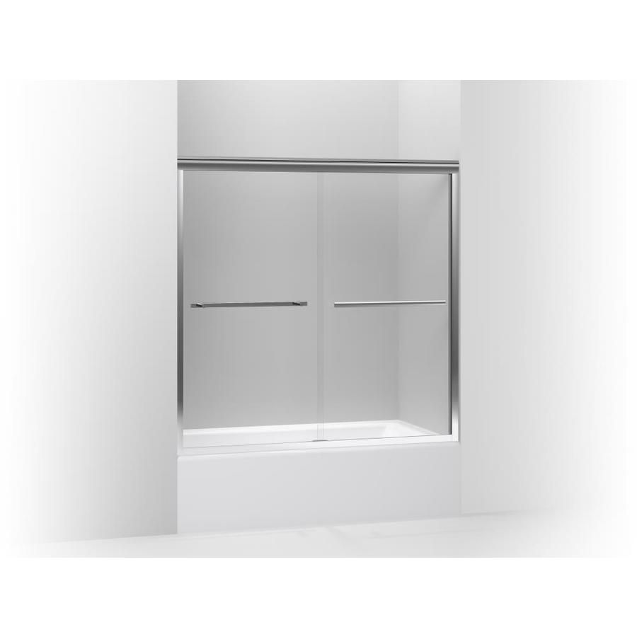 Kohler Gradient 56 625 In To 59 625 In W Frameless Bright Polished