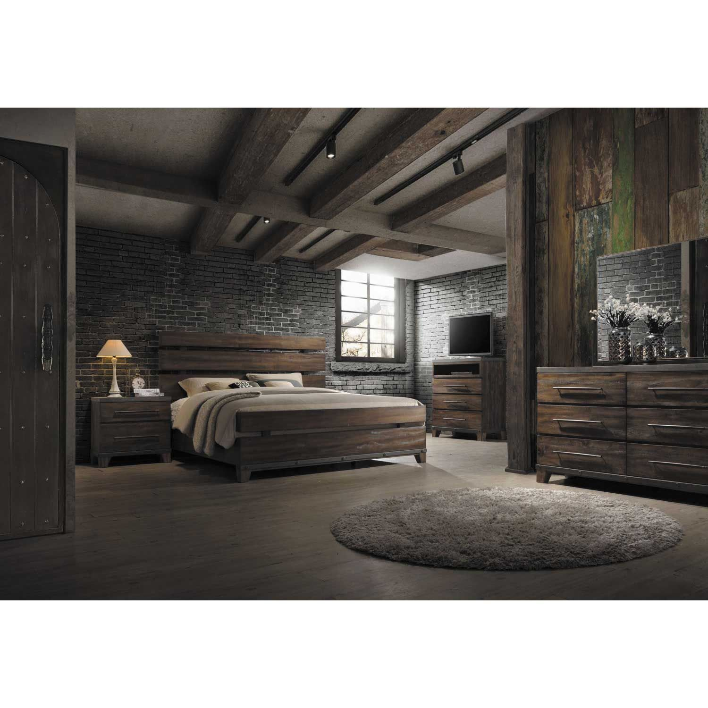 5 Piece Bedroom Set Bedroom sets queen, Rustic
